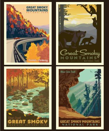 National Parks Pillow Panel Great Smoky Mountains