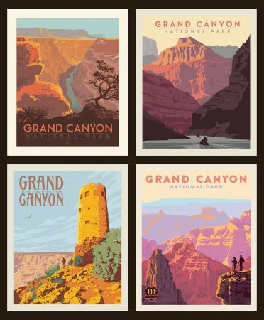 GRAND CANYON NATIONAL PARKS PILLOW PANEL P8936 by Riley Blake