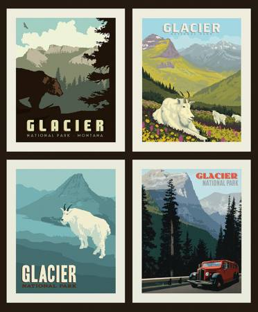 National Parks Pillow Panel  - Glacier (36 X 43)