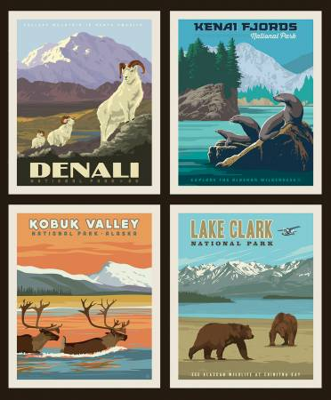 National Park Pillow Panel PP9484 Alaska 1