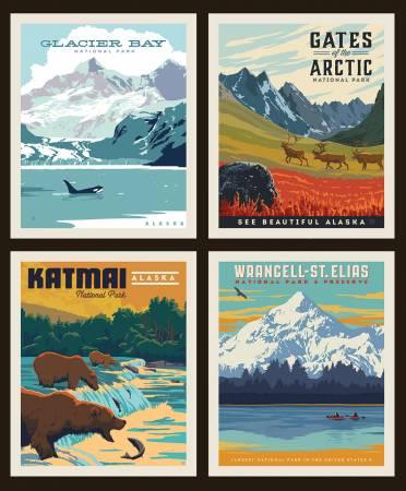 National Park Pillow Panel PP9485 Alaska 2
