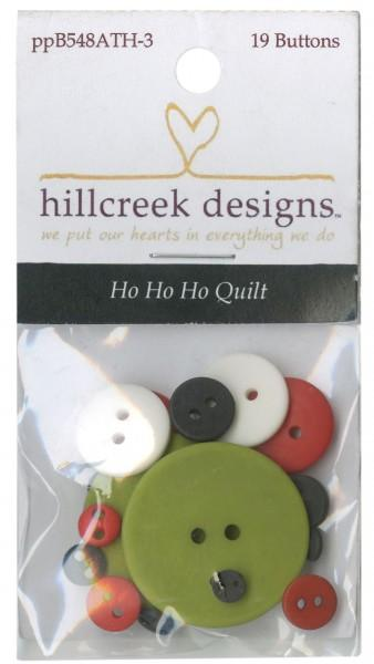 Ho Ho Ho Quilt 19ct Buttons