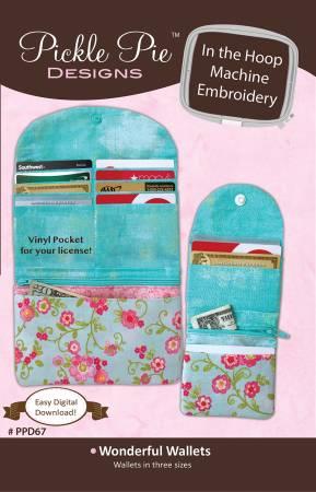 Wonderful Wallets - In The Hoop Machine Embroidery