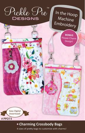 Charming Crossbody Bags Machine Embroidery CD