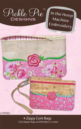 Zippy Cork Bags In The Hoop Machine Embroidery CD - PPD-82