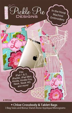 Chloe Crossbody & Tablet Bag In the Hoop Machine Embroidery