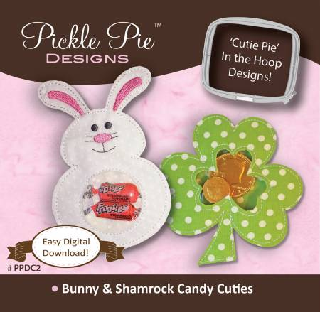 Shamrock & Bunny Candy Cuties Embroidery CD