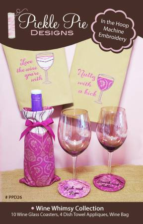 CD Wine Whimsy Collection Machine Embroidery