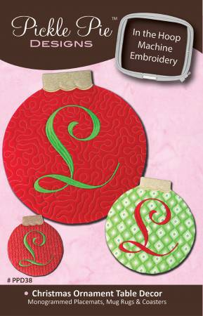 Christmas Ornament Table Decor Machine Embroidery