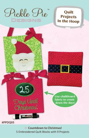 Countdown To Christmas Quilt Projects In The Hoop Designs Collection CD