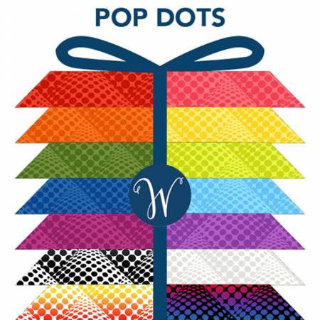 Pop Dot Fat Quarters 16pcs/bundle