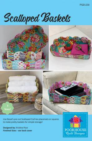 Scalloped Baskets by Poorhouse Quilt Designs