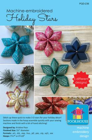 Machine Embroidery Holiday Stars