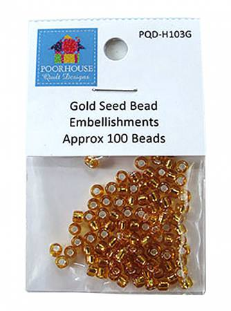 Embellishment Kit Seed Beads Gold for PQD196