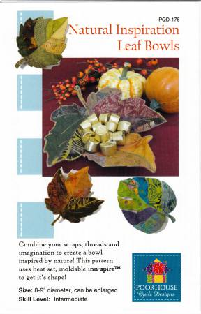 Natural Inspiration Leaf Bowls - Poorhouse Quilt Designs