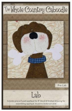 Brown Lab Precut Applique