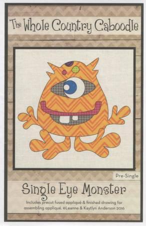 Single  Eye Monster Pre-cut Fused Applique