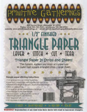 1/2in Triangle Paper Primitive Gatherings