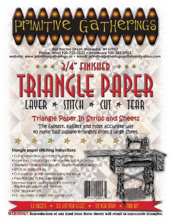 3/4 Triangle Paper Primitive Gatherings