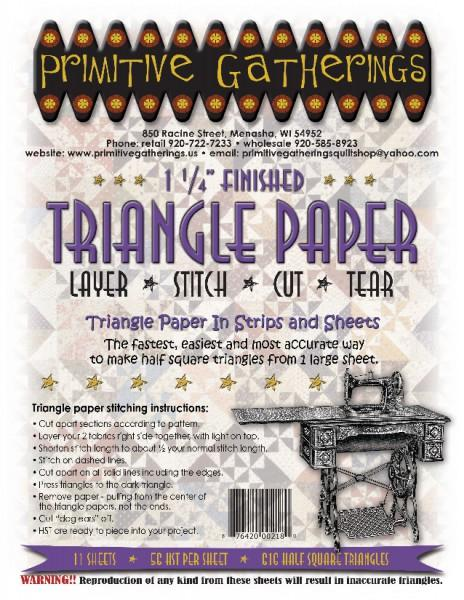1-1/4 Triangle Paper Primitive Gatherings