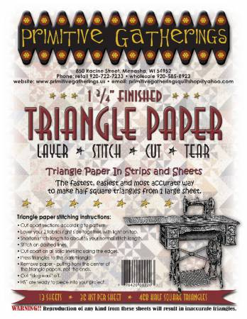 1-3/4 Triangle Paper Primitive Gatherings