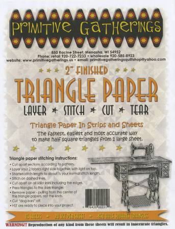 TRIANGLE PAPER  2 INCH BY PRIM GATHERINGS