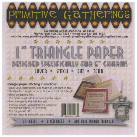1in Triangle Paper-For Charms by Primitive Gatherings