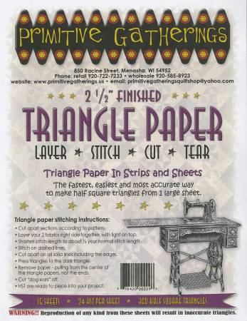 2-1/2in Triangle Paper by Primitive Gatherings
