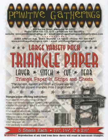 Large Variety Triangle Paper