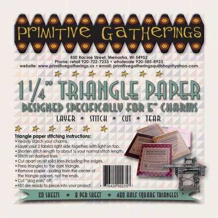 1-1/4in Triangle Charm Paper - PRI-235