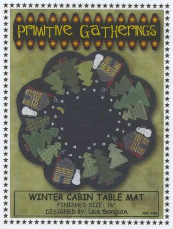 Winter Cabin Table Mat Pattern