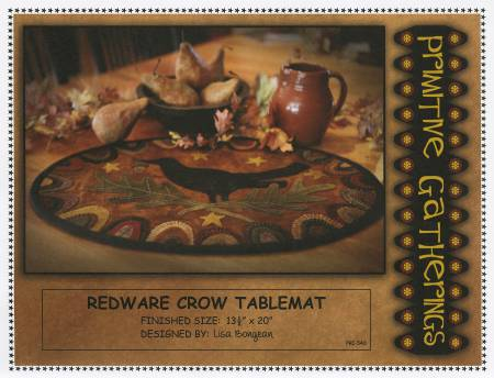 Redware Crow - Pattern Only