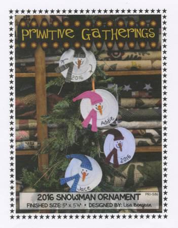 2016 Snowman Ornament