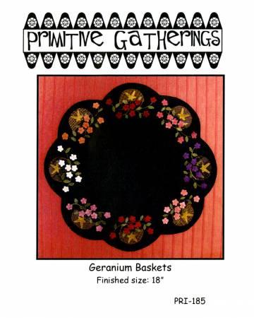 PT W Primitive Gatherings Geranium Baskets