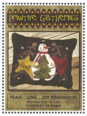 Peace, Love, Joy Pincushion