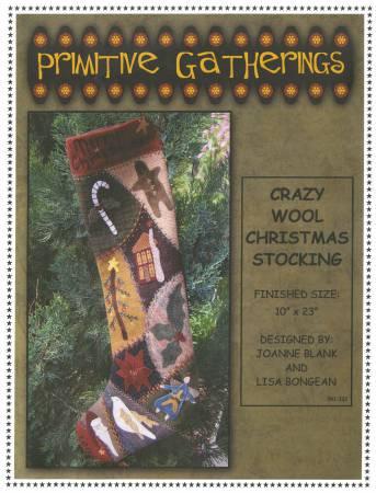 Crazy Wool Christmas Stocking