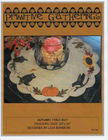Autumn Tablemat pattern by Primitive Gatherings