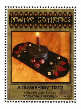 Strawberry Trio Candle Mat Pattern