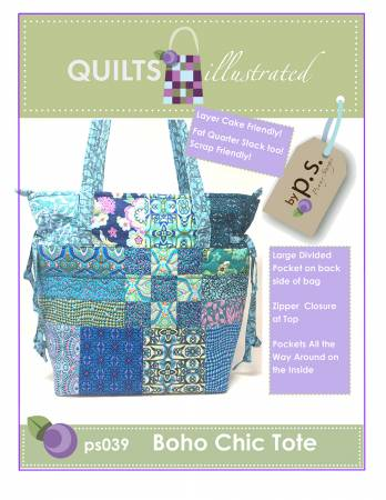 Quilts illlustrated Boho Chic Tote