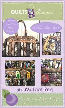 Quilts Illustrated Tool Tote w/ Hardware ps054