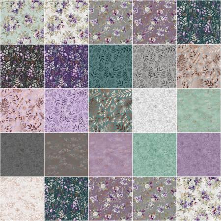 Punch Studio Lilac & Sage, 40pcs, 4 bundles per pack 2-1/2in Strips