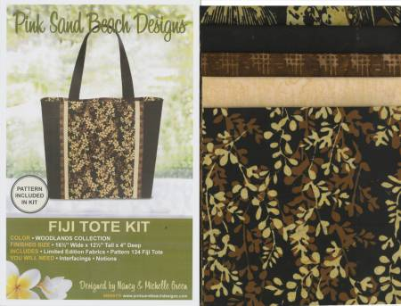 Fiji Tote Woodlands Kit/Pattern