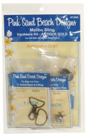 Malibu Sling Hardware Set Antique Gold
