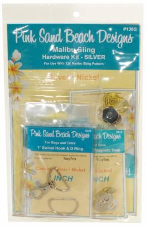 Malibu Sling Hardware Set Silver
