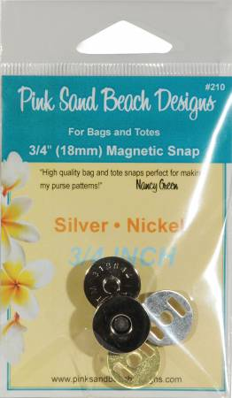 Magnetic Purse Snap - Silver Nickel 3/4in (18mm)