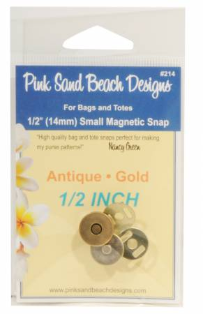 Magnetic Snap - Antique Gold 1/2in (14mm) #214