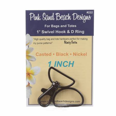 1 Swivel Hook & D Ring - Black