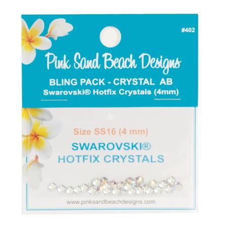 Bling Pack - Swarovski Hotfix Crystal 4mm - Crystal AB