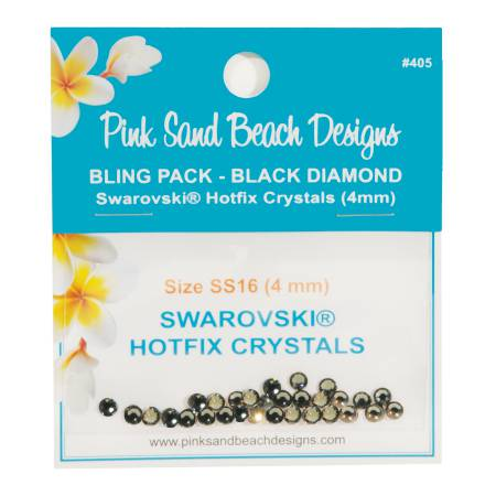 Bling Pack - Swarovski Hotfix Crystal 4mm - Black Diamond