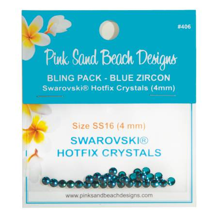 Bling Pack - Swarovski Hotfix Crystal 4mm - Blue Zircon